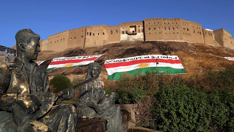 Initial results are expected to be announced 24 hours after the vote but an overwhelming 'Yes' outcome is not in doubt, with Kurdish flags festooned in all the streets, on cars and outside homes across Iraqi Kurdistan