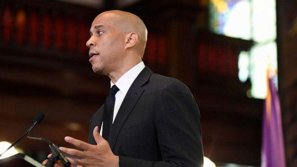 PHOTO: Democratic presidential candidate, Sen. Cory Booker speaks about gun violence and white supremacy in the sanctuary of Mother Emanuel AME on Aug. 7, 2019, in Charleston, S.C. (Meg Kinnard/AP)