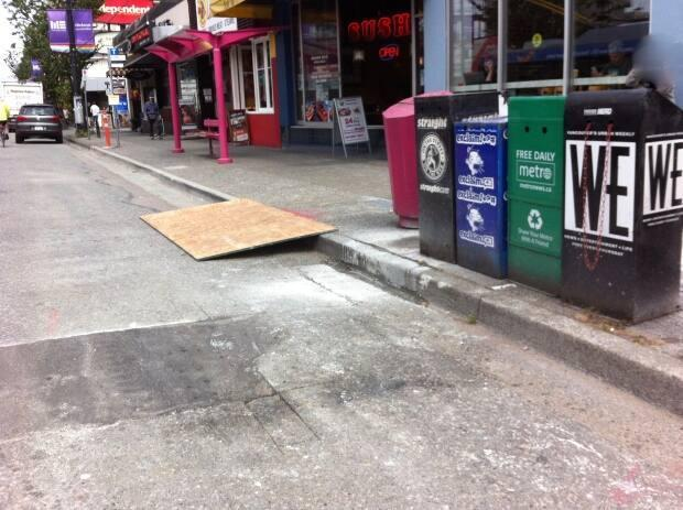 Putting a sheet of wood against a curb to replace an actual ramp does not make a sidewalk accessible, say disability advocates.