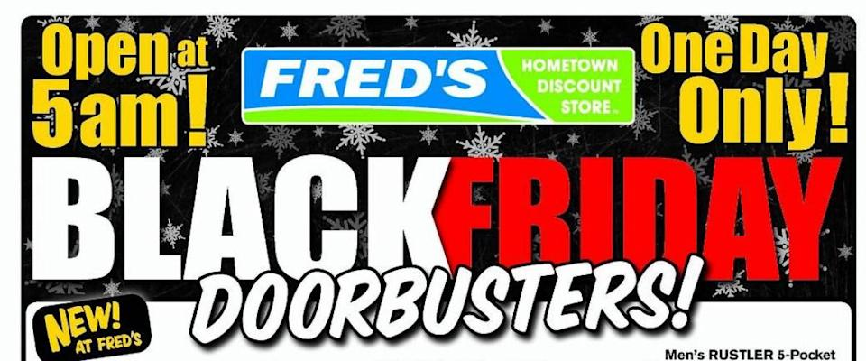 A sale advertisement from Fred's, 2011