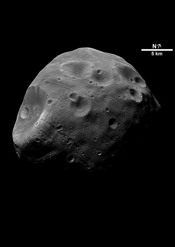 Potato-Shaped Mars Moon Phobos May Be a Captured Asteroid