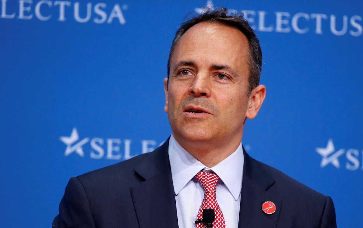 Kentucky Gov. Matt Bevin (R) has made overhauling the state pension system a priority since taking office in 2015. But his proposals have drawn anger from teachers and other public employees. (Photo: Joshua Roberts / Reuters)