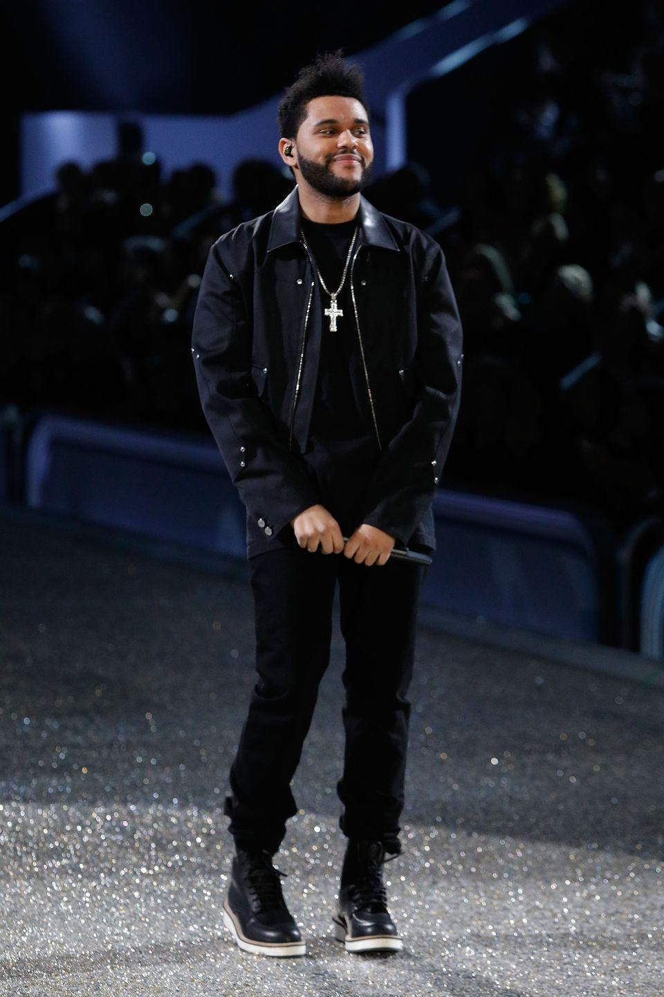 <p>Tesfaye takes another variation on the look out for a spin at the Victoria's Secret Fashion Show a few days later. </p>