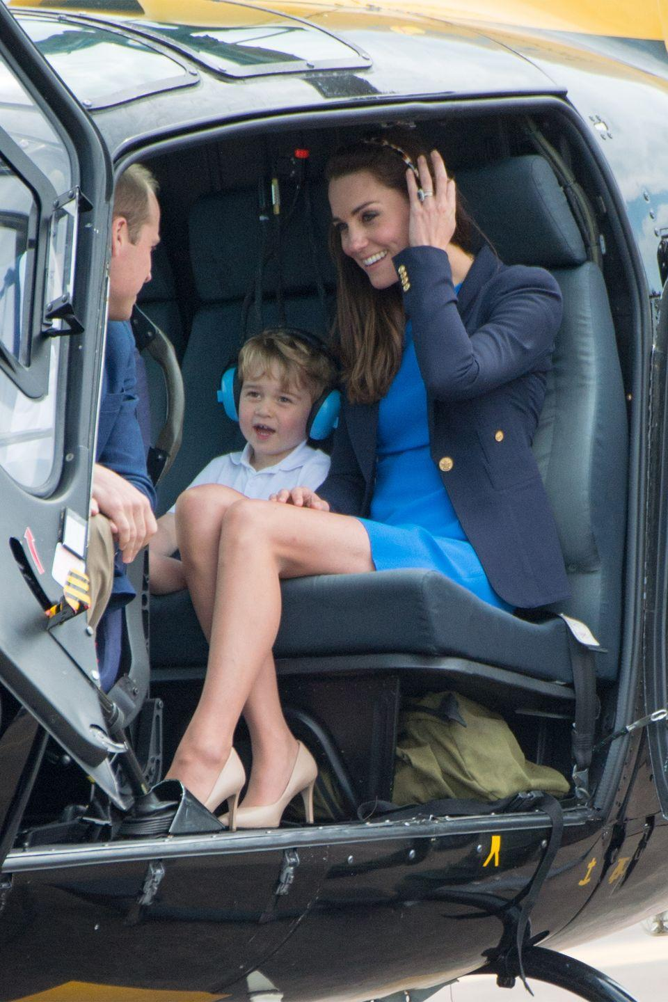 <p>The Duke and Duchess of Cambridge attend the Royal International Air Tattoo at RAF Fairford with Prince George.<br></p>