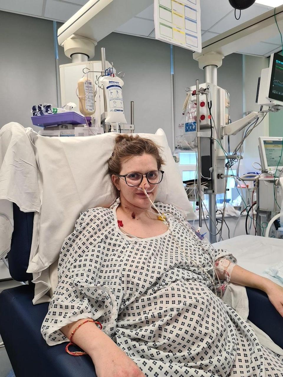 Claire Bromley during her treatment (PA Media)