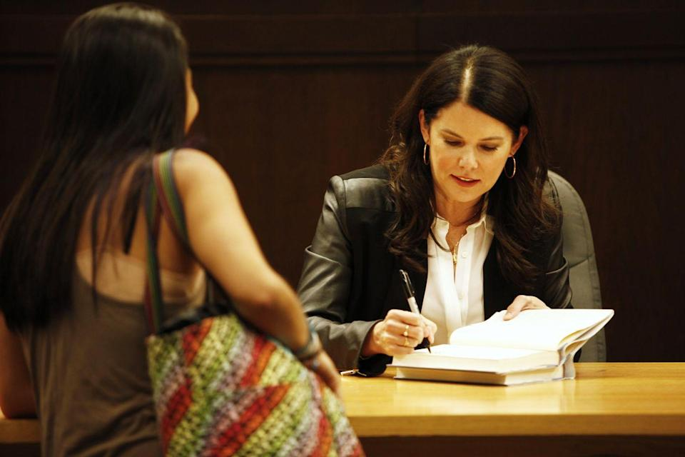 "<p>Before TV's favorite fast-talking mom penned her two nonfiction books, Lauren Graham released <em>Someday, Someday, Maybe</em>, a novel about an aspiring actress who is trying to make it in New York City. However, the <em>Gilmore Girls</em> star was quick to point out in an interview with <em><a href=""https://www.usatoday.com/story/life/books/2013/04/29/lauren-grahram-debut-novel/2112535/"" rel=""nofollow noopener"" target=""_blank"" data-ylk=""slk:USA Today"" class=""link rapid-noclick-resp"">USA Today</a></em> at the time that the story is autobiographical in ""only the most general way."" </p><p>Lauren told the paper she wrote the novel on her off days from shooting <em>Parenthood,</em> and that she planned on writing a second book with some of the same characters. While <em>Someday</em> was released in 2013, it's never too late for a reboot. </p><p><a class=""link rapid-noclick-resp"" href=""https://www.amazon.com/Someday-Maybe-Novel-Lauren-Graham/dp/0345532767?tag=syn-yahoo-20&ascsubtag=%5Bartid%7C2139.g.34385633%5Bsrc%7Cyahoo-us"" rel=""nofollow noopener"" target=""_blank"" data-ylk=""slk:Buy the Book"">Buy the Book</a></p>"