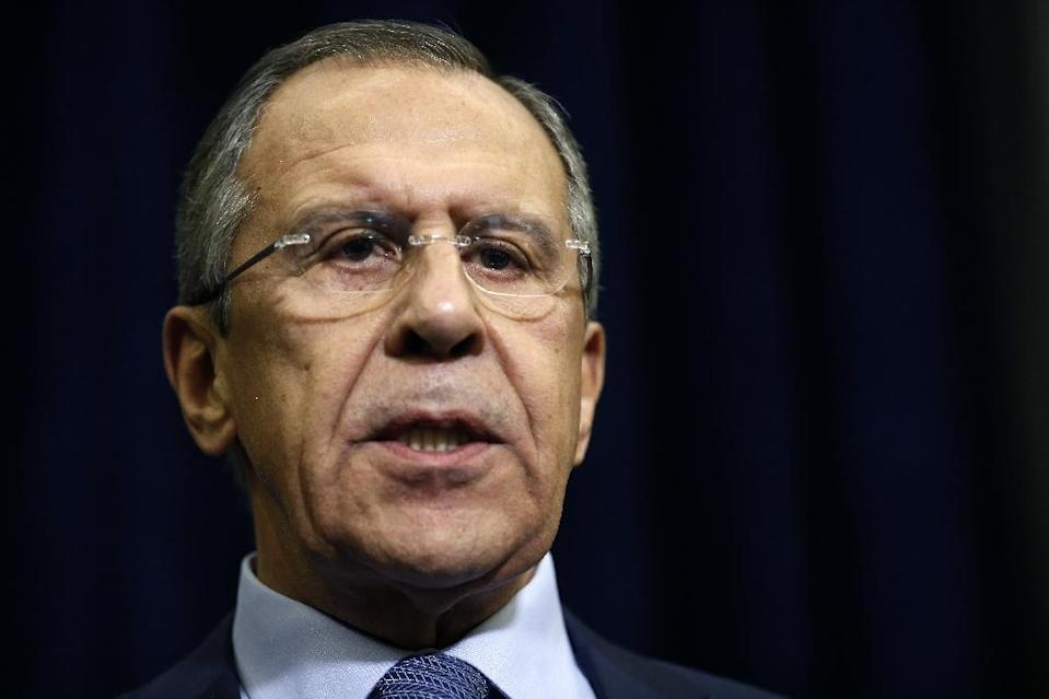 Russian Foreign Minister Sergei Lavrov cancelled a planned visit to Istanbul after Turkey downed a Russian warplane on November 24, 2015 (AFP Photo/Maxim Shipenkov)