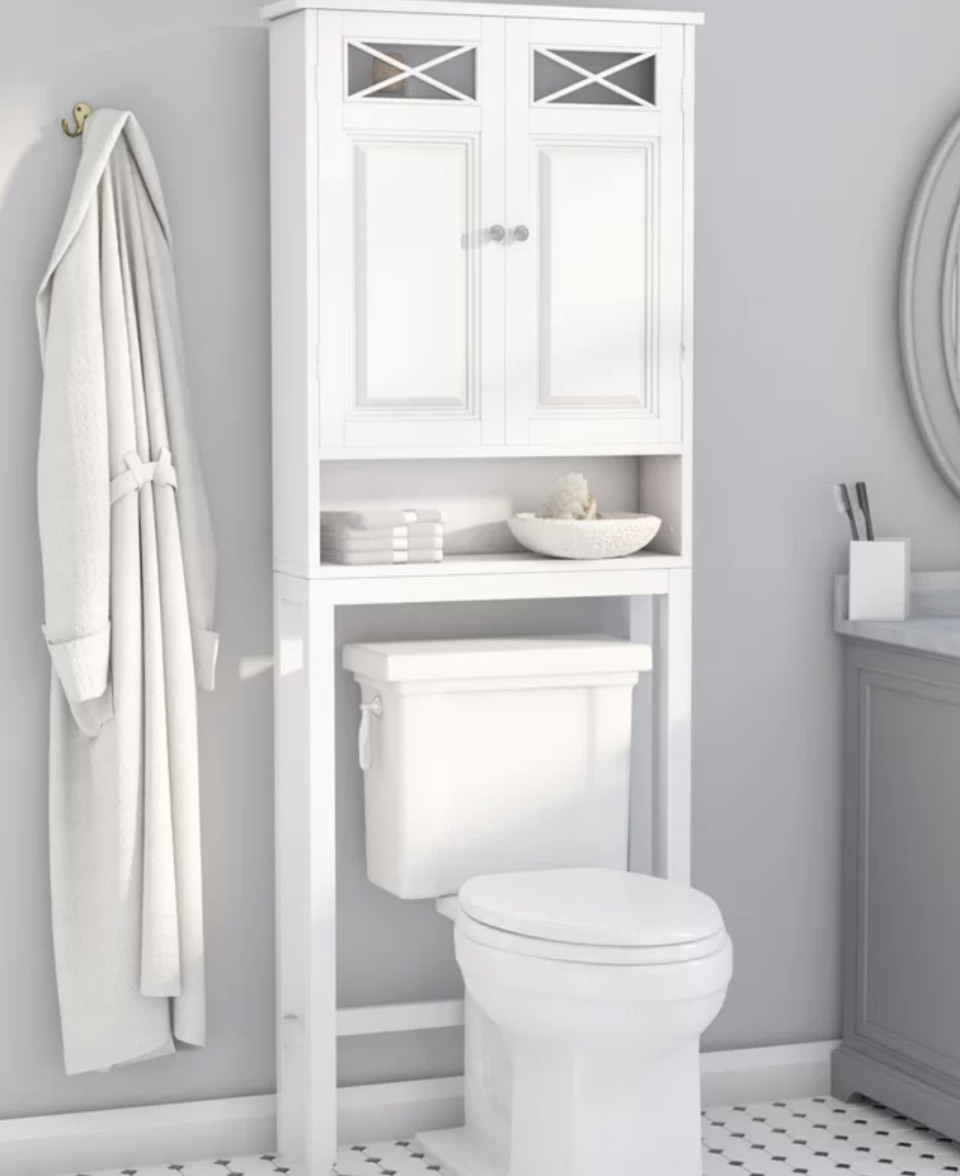 Handle the overflow from your medicine cabinet with grace. (Photo: Wayfair)