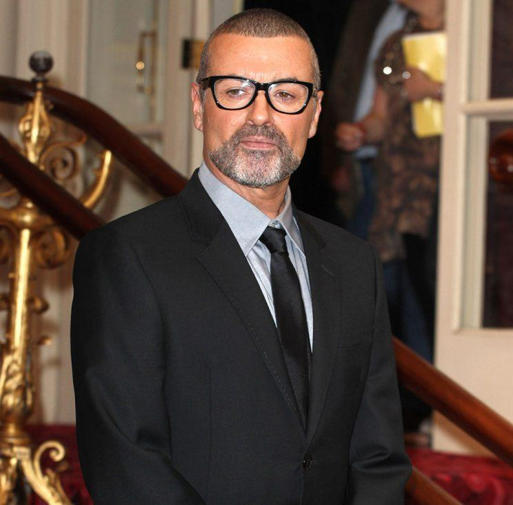 George Michael attends a press conference to announce his new European tour, Symphonica: The Orchestral Tour at The Royal Opera House on May 11, 2011 in London, England. (Photo by Fred Duval/FilmMagic)