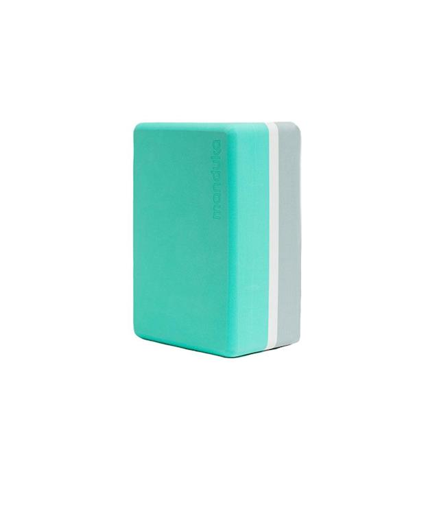 "<p>Recycled Foam Yoga Block in Seafoam, $18, <a href=""https://www.manduka.com/props-accessories/blocks/r-foam-block-seafoam-seafoam-3-tone-green-4x6x9.html"" rel=""nofollow noopener"" target=""_blank"" data-ylk=""slk:manduka.com"" class=""link rapid-noclick-resp"">manduka.com</a> </p>"