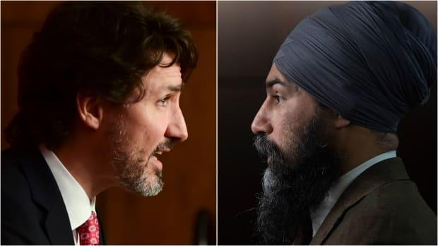 Prime Minister Justin Trudeau, left, and NDP Leader Jagmeet Singh are seen in a composite photo. Singh has said he wants to avoid a federal election during the COVID-19 pandemic, and he has asked Trudeau to make the same commitment.  (Sean Kilpatrick/The Canadian Press - image credit)