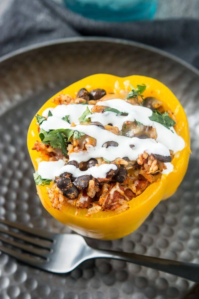 """<p>These vegetarian stuffed peppers are fire.</p><p>Get the recipe from <a href=""""http://slowcookergourmet.net/slow-cooker-stuffed-peppers/"""" rel=""""nofollow noopener"""" target=""""_blank"""" data-ylk=""""slk:Slow-Cooker Gourmet"""" class=""""link rapid-noclick-resp"""">Slow-Cooker Gourmet</a>.</p>"""