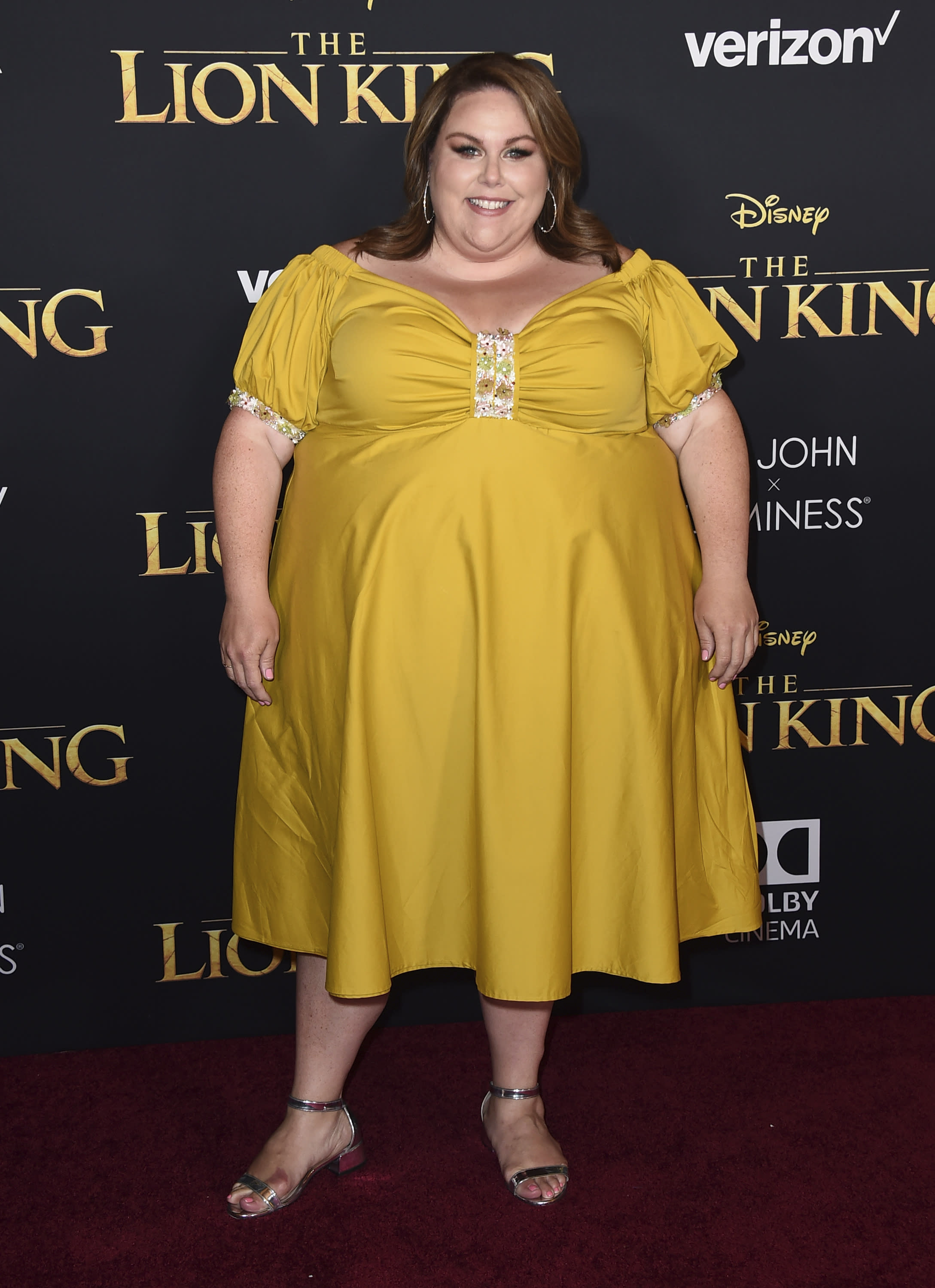 "Chrissy Metz arrives at the world premiere of ""The Lion King"" on Tuesday, July 9, 2019, at the Dolby Theatre in Los Angeles. (Photo by Jordan Strauss/Invision/AP)"
