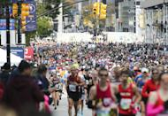 <p>While certain tools are allowed—like hydration belts—other races, like Atlanta's Peachtree Road Race, say no to devices like Camelbaks. </p>