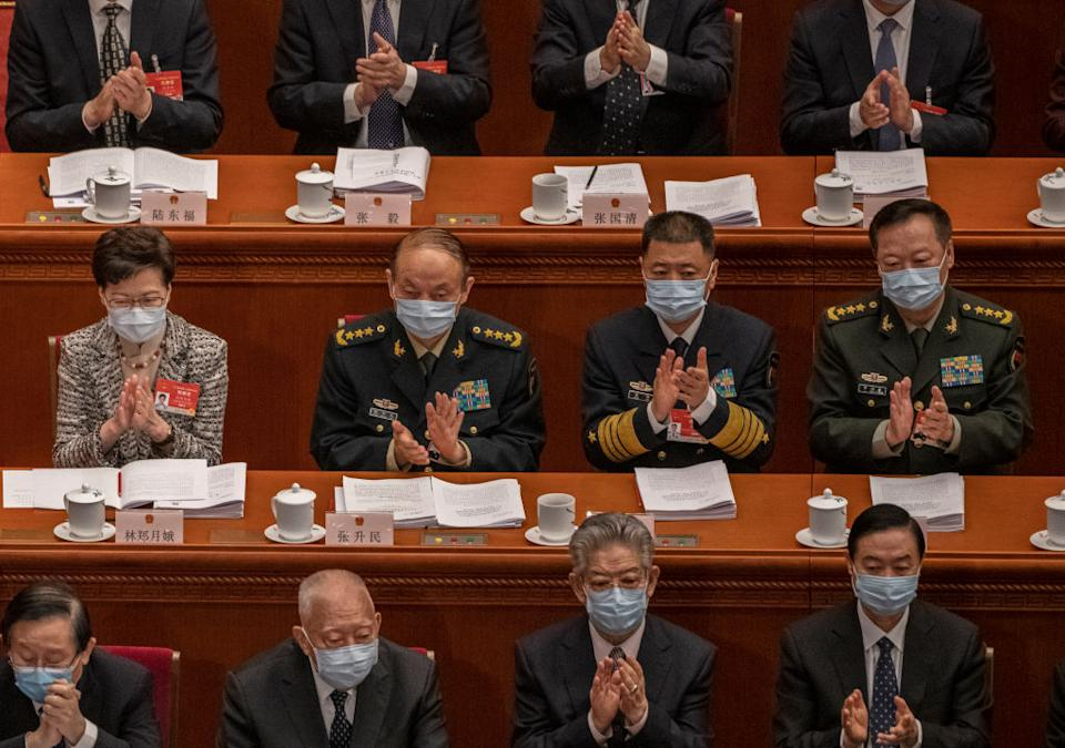Chinese military officials.