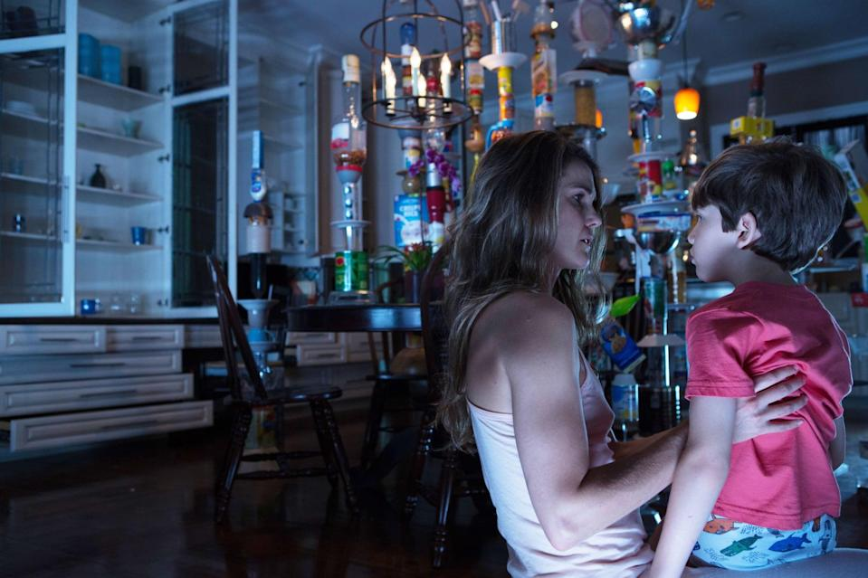 """<p><a class=""""link rapid-noclick-resp"""" href=""""https://www.popsugar.com/Keri-Russell"""" rel=""""nofollow noopener"""" target=""""_blank"""" data-ylk=""""slk:Keri Russell"""">Keri Russell</a> stars in this supernatural horror flick as Lacy, a real estate agent who finds herself and her family plagued by a series of terrifying events. Lacy becomes determined to find the source of the deadly threat, and through research, she discovers that the threat may be supernatural. </p> <p>Watch <a href=""""http://www.netflix.com/title/70259395"""" class=""""link rapid-noclick-resp"""" rel=""""nofollow noopener"""" target=""""_blank"""" data-ylk=""""slk:Dark Skies""""><strong>Dark Skies</strong></a> on Netflix now.</p>"""