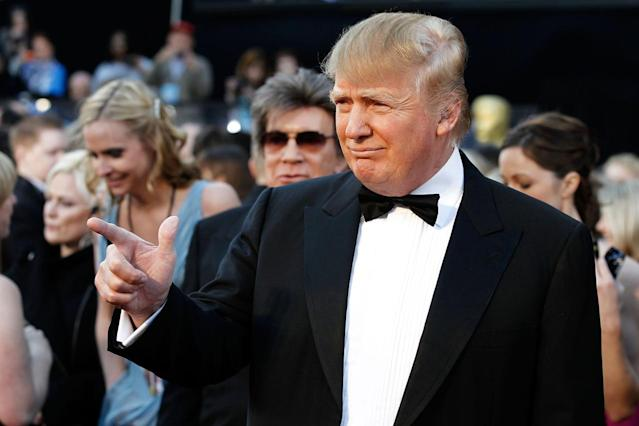 <p>Donald Trump arrives before the 83rd Academy Awards on Feb. 27, 2011. <i>(Photo: Matt Sayles/AP)</i> </p>