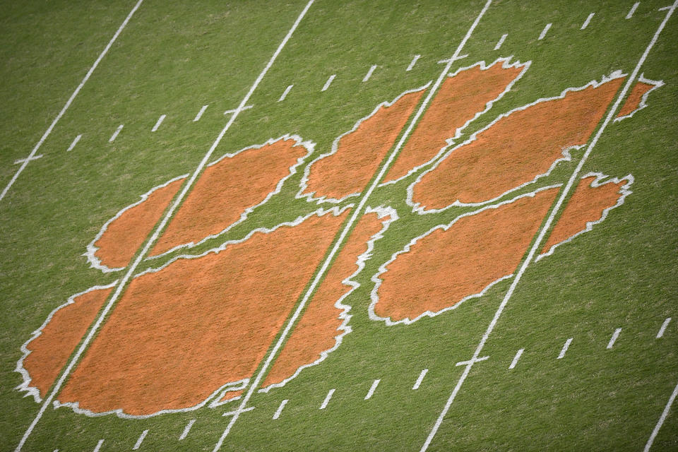 Clemson athletics reported an alarming number of positive COVID-19 tests. (Photo by Mike Comer/Getty Images)
