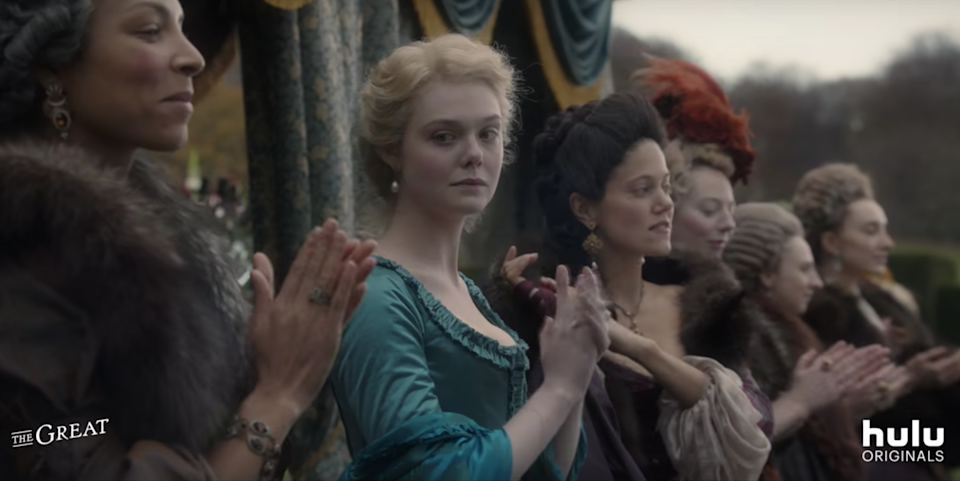 If you liked <em>The Favourite</em> with Emma Stone, Olivia Colman and Rachel Weisz, then you'll love this new history-bending comedy series about Catherine the Great (Elle Fanning). Nicholas Hoult also stars as Peter III of Russia. We'd probably watch it just for the amazing period costumes and hair and makeup alone. <em>Streaming on Hulu</em>