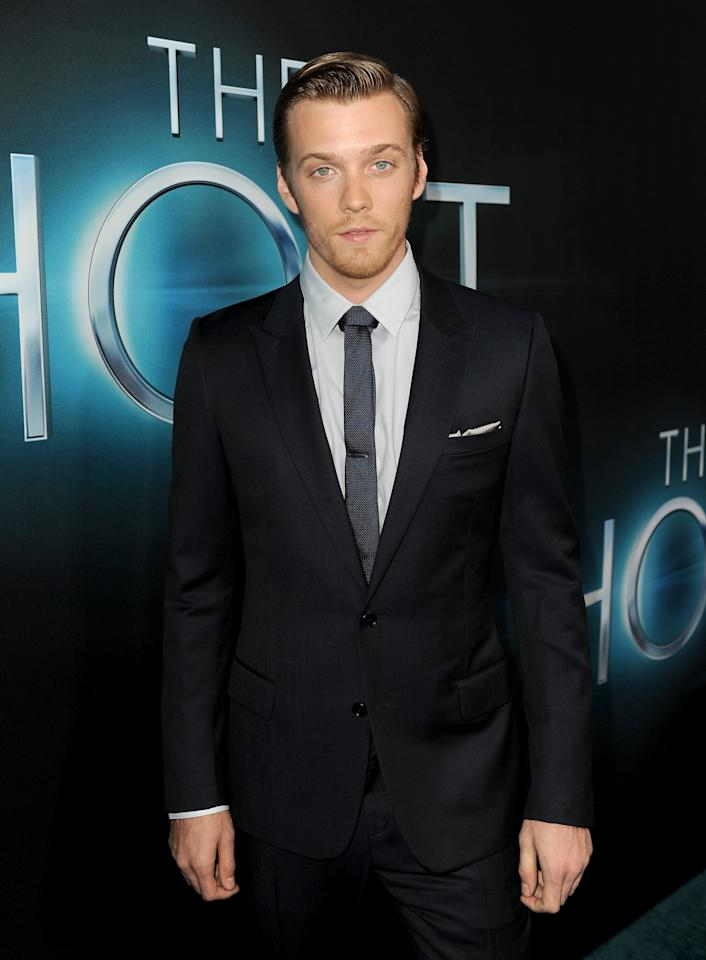 "HOLLYWOOD, CA - MARCH 19:  Actor Jake Abel attends the premiere of Open Road Films ""The Host"" at ArcLight Cinemas Cinerama Dome on March 19, 2013 in Hollywood, California.  (Photo by Kevin Winter/Getty Images)"