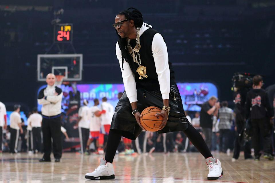 """<p>Before his career as a rapper, <a href=""""https://www.billboard.com/articles/columns/hip-hop/7632257/2-chainz-george-gervin-basketball-video/"""" rel=""""nofollow noopener"""" target=""""_blank"""" data-ylk=""""slk:2 Chainz attended Alabama State University on an athletic scholarship"""" class=""""link rapid-noclick-resp"""">2 Chainz attended Alabama State University on an athletic scholarship</a> for their Division I basketball team. He was a versatile player who could play point guard, shooting guard, and small forward.</p>"""