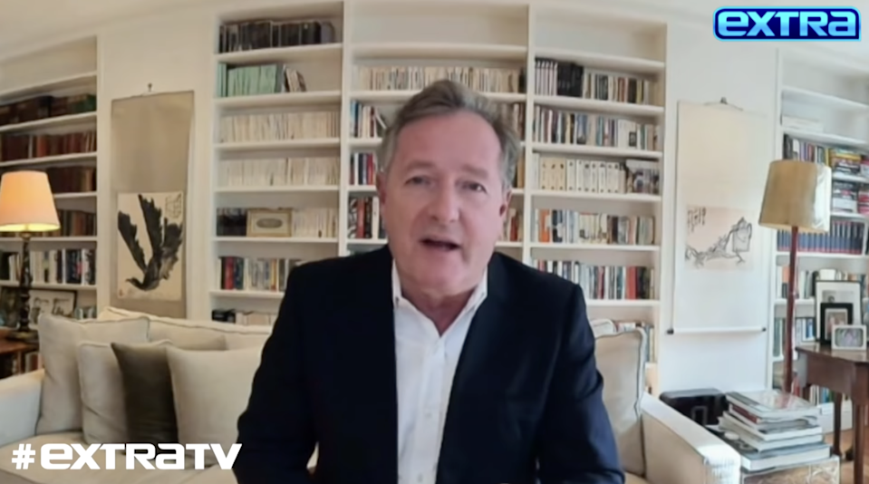 <p>File image: Piers Morgan during his Extra TV interview with Billy Bush</p> (Extra TV)