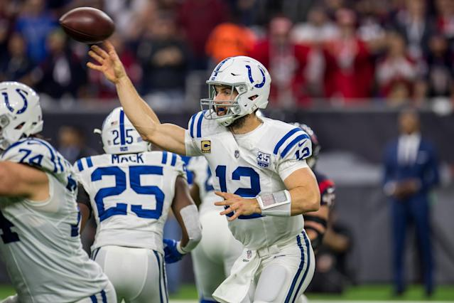 Andrew Luck has been helped by solid Colts' defensive displays on their run to the playoffs