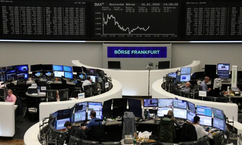 European shares rise as U.S.-China trade deal clears fog; London lags