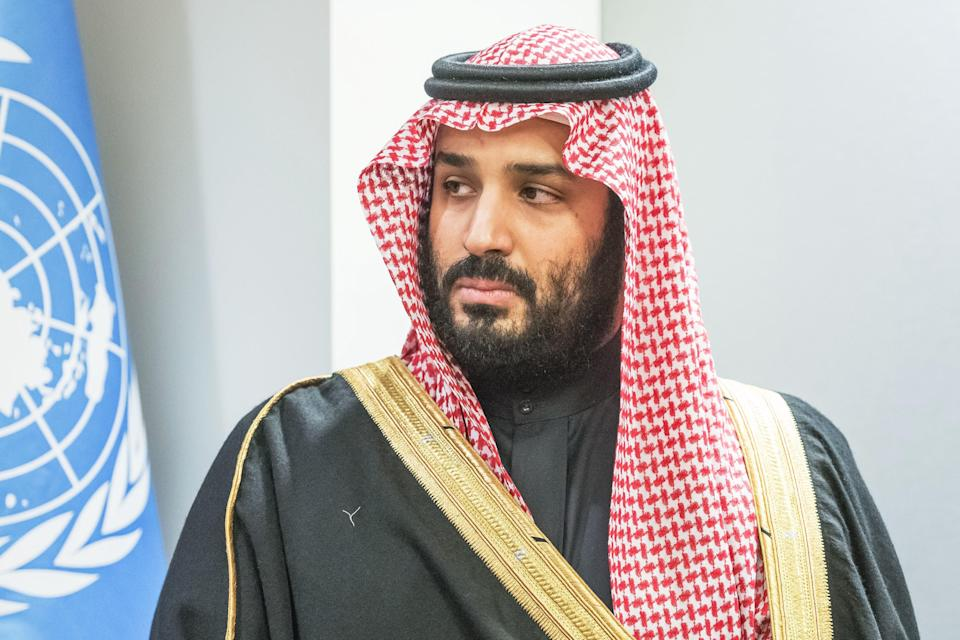 Saudi Crown Prince Mohammed bin Salman attends a bilateral meeting with the United Nations secretary-general at U.N. headquarters on March 27, 2018. (Photo: Albin Lohr-Jones/Pacific Press/LightRocket via Getty Images)