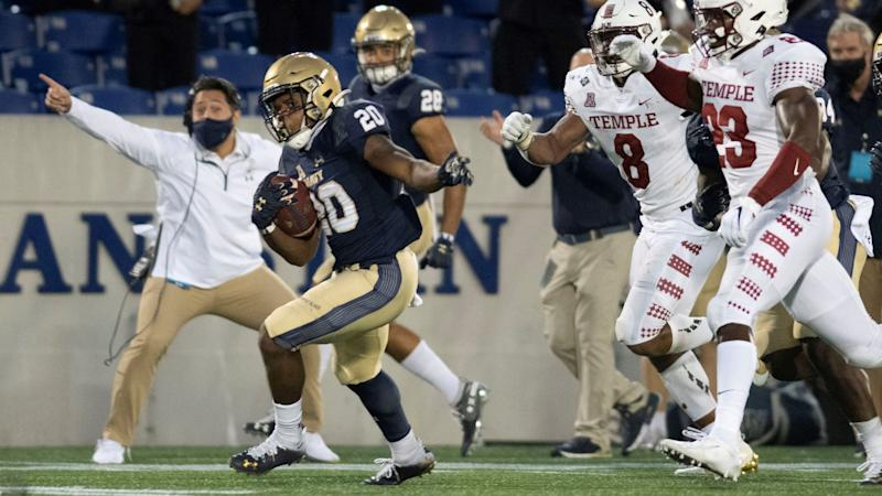 Navy holds on for narrow win over Temple for Niumatalolo's 100th win