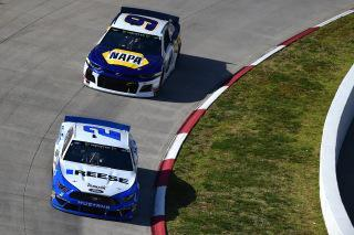 Brad Keselowski held off Chase Elliott for his second win of the season. (Photo by Jared C. Tilton/Getty Images)