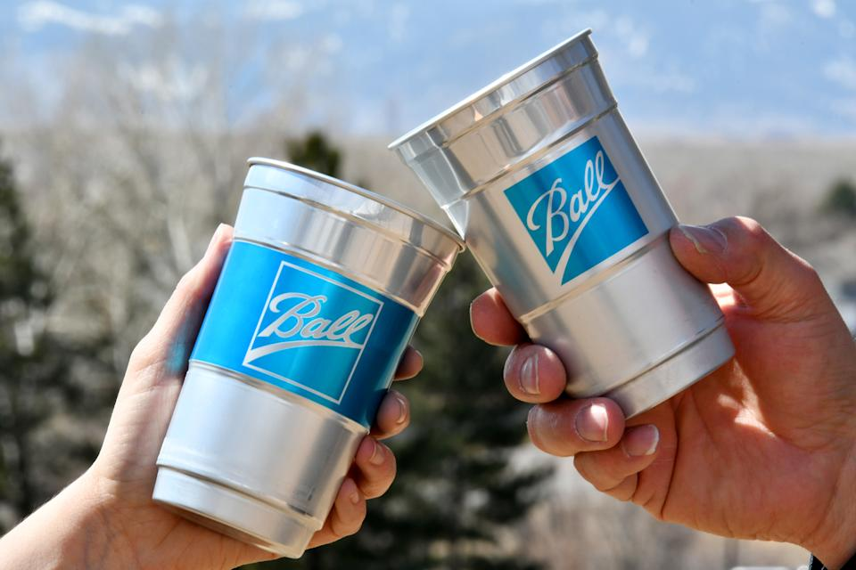 Featuring:  New Ball Aluminum Cups