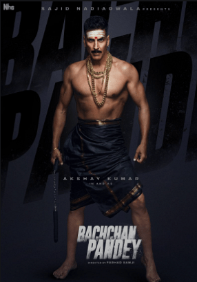 Akshay Kumar in the poster for <i>Bachchan Pandey</i>