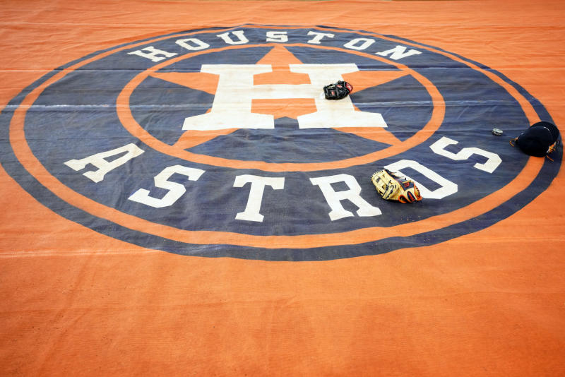 Several youth leagues in Southern California have banned the Astros team name this season amid their cheating scandal. (Cooper Neill/MLB Photos/Getty Images)