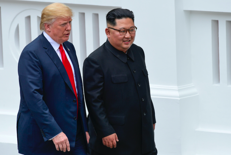 <em>Donald Trump says Kim Jong-un has accepted an invite to the White House (PA)</em>