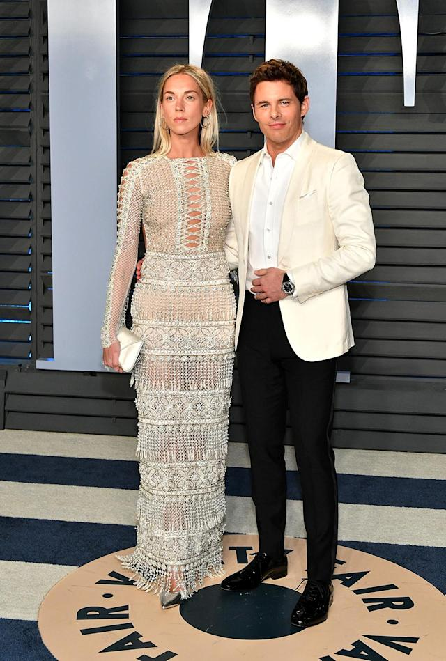 <p>Mardsen and the English singer-songwriter, a couple since 2015, made it a date night in white. (Photo: Dia Dipasupil/Getty Images) </p>