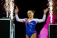 LONDON, ENGLAND - APRIL 08: Amy Tinkler of Great Britain walks in to the arena to compete in the women's competition for the iPro Sport World Cup of Gymnastics at The O2 Arena on April 8, 2017 in London, England. (Photo by Dan Istitene/Getty Images)