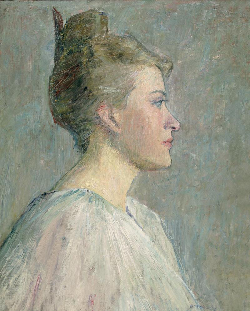 A Profile, c. 1895, oil on canvas. Shown at the New York Watercolor Society and the Pennsylvania Academy of the Fine Arts in 1895.