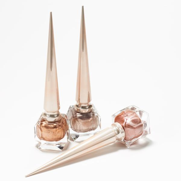 The Christian Louboutin Metalinudes collection launches today with three sparkly new shades of nail polish and lip gloss.