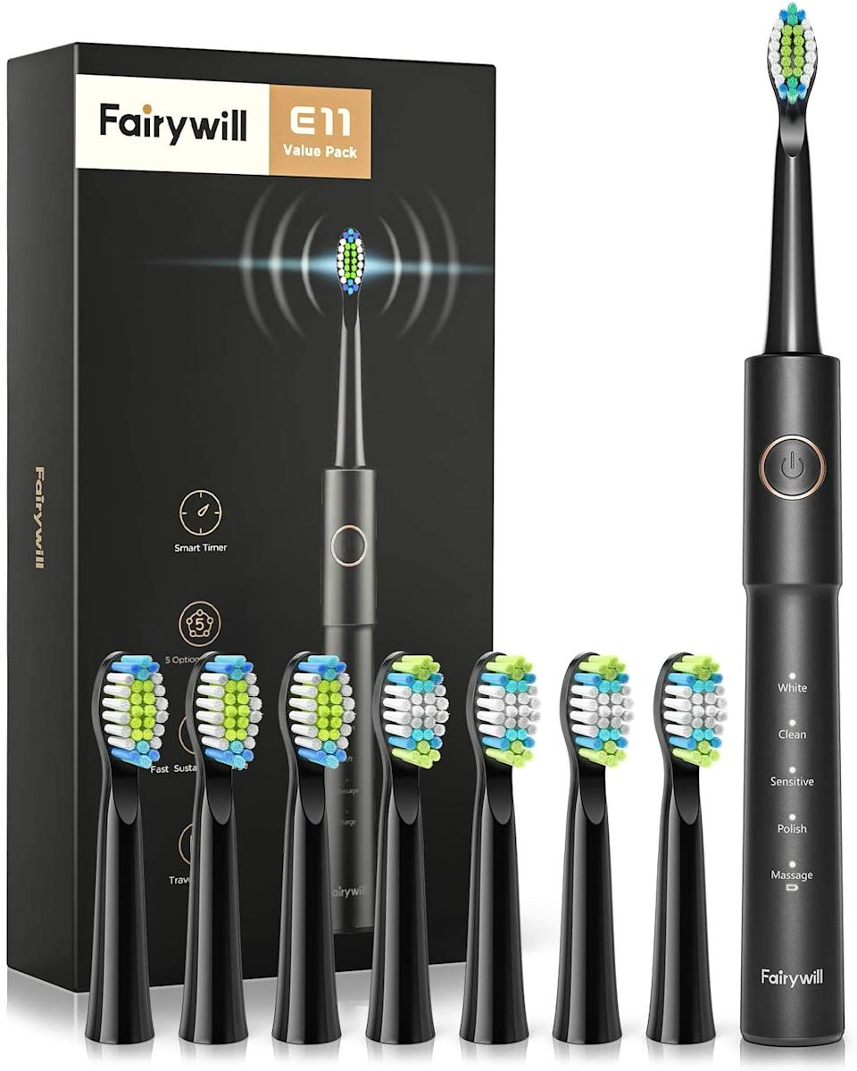 Fairywill Rechargeable Ultrasonic Electronic Toothbrush. Image via Amazon.