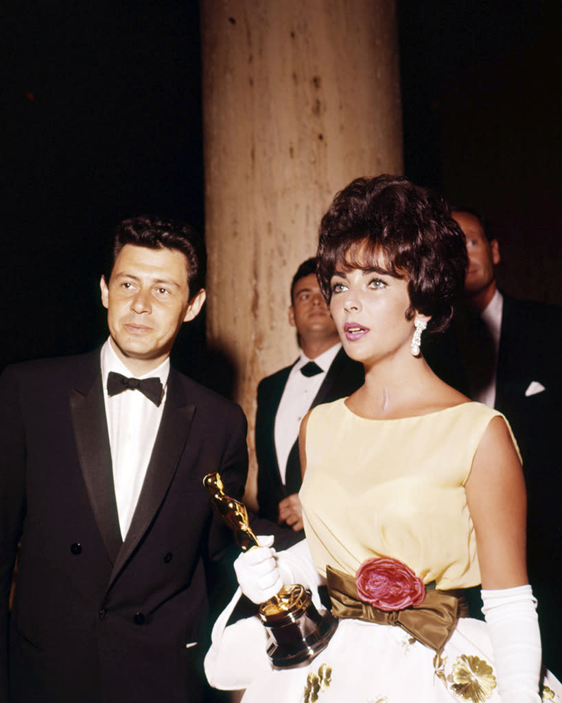 <p>Taylor, who practically rose from her deathbed to accept the 1961 Best Actress Oscar for <i>Butterfield 8</i>, cited a fear of flying for skipping her second career win for <i>Who's Afraid of Virginia Woolf?</i> (She was in France at the time.) But it was widely speculated that Taylor stayed away in solidarity with husband and fellow <i>Virginia Woolf</i> nominee Richard Burton, who supposedly was afraid he'd lose Best Actor to <i>A Man for All Season</i>'s Paul Scofield. (He was right.) At least Taylor wasn't alone: Scofield and Best Supporting Actress Sandy Dennis (<i>Virginia Woolf</i>) didn't attend, either, owing to work commitments. </p><p>(Taylor at 1961 ceremony; photo: Getty Images) </p>