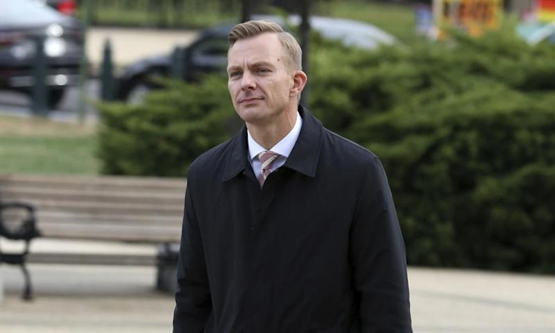 David Holmes, a career diplomat stationed in Kyiv, arrives on Capitol Hill on Friday.