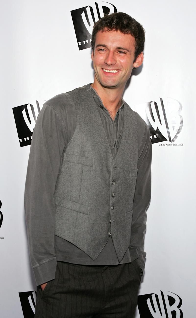 """British actor Callum Blue of the show """"Related"""" arrives for The WB's All Star Party at the Cabana Club in Hollywood July 22, 2005 as part of the 2005 Television Critics Association Summer press tour. REUTERS/Lee Celano ljc/CCK"""