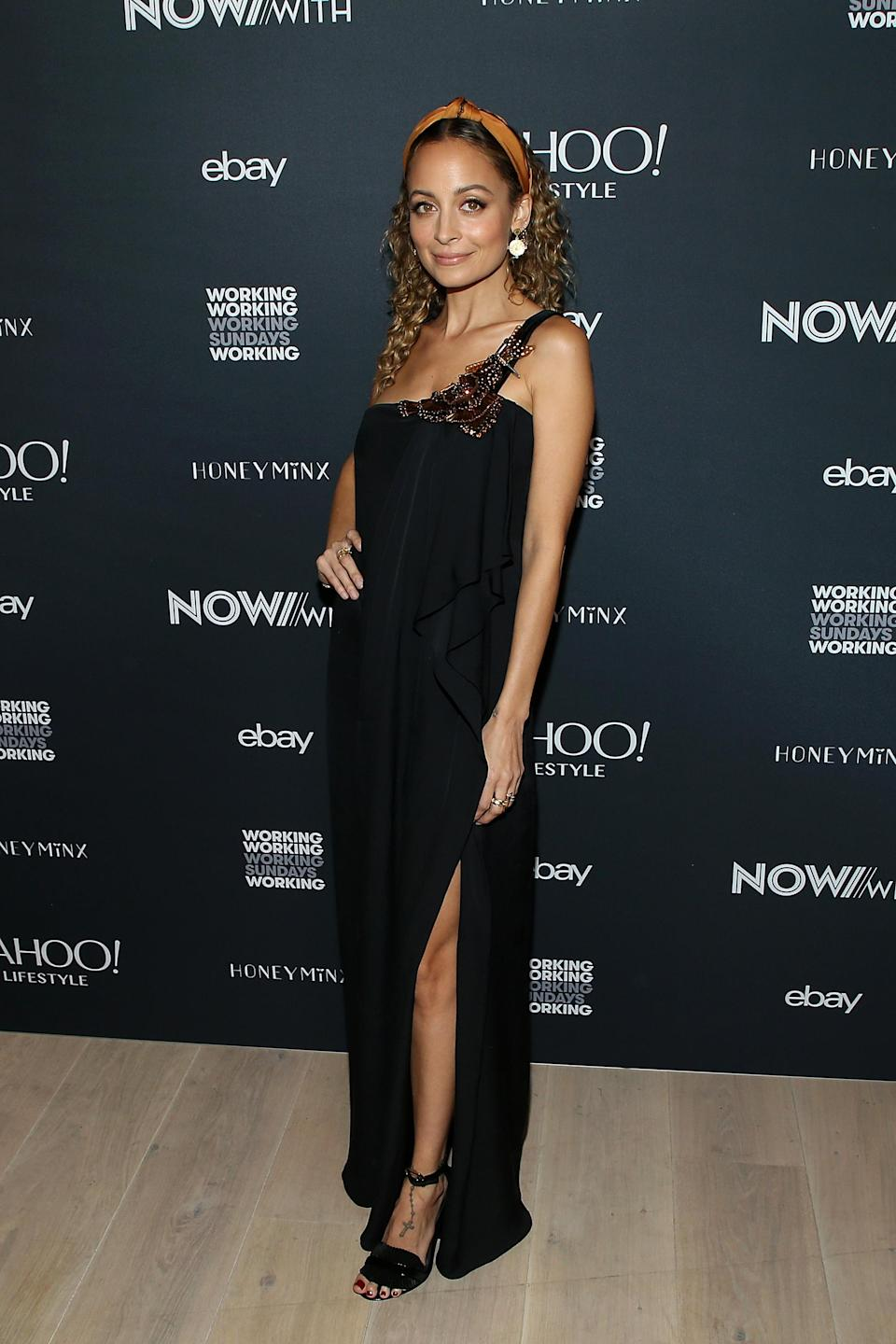 Nicole Richie at Yahoo Lifestyle's NowWith shopping video launch in Los Angeles. (Photo: Getty Images)
