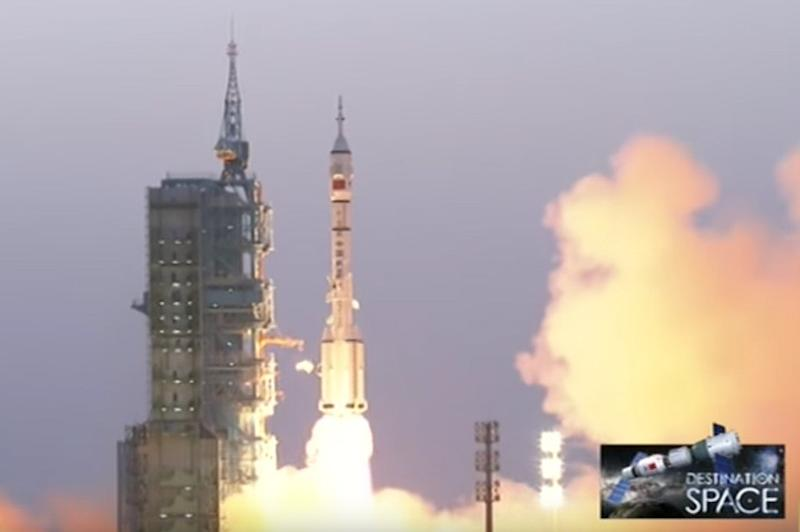 A Chinese rocket has just blasted off to begin the nation's longest manned mission to date