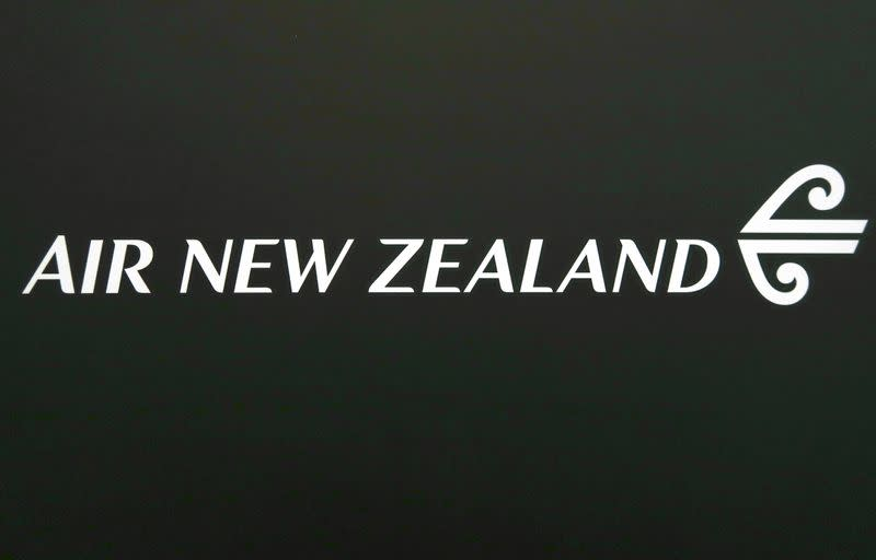 FILE PHOTO: The logo for Air New Zealand is displayed at their office located at Sydney International Airport, Australia