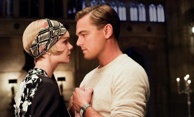 Leonardo DiCaprio with Carey Mulligan in a scene from The Great Gatsby.