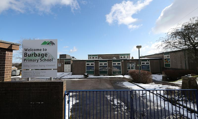 "Burbage Primary School in Leicestershire, which has been closed due to a ""confirmed case of coronavirus amongst our parent population""."