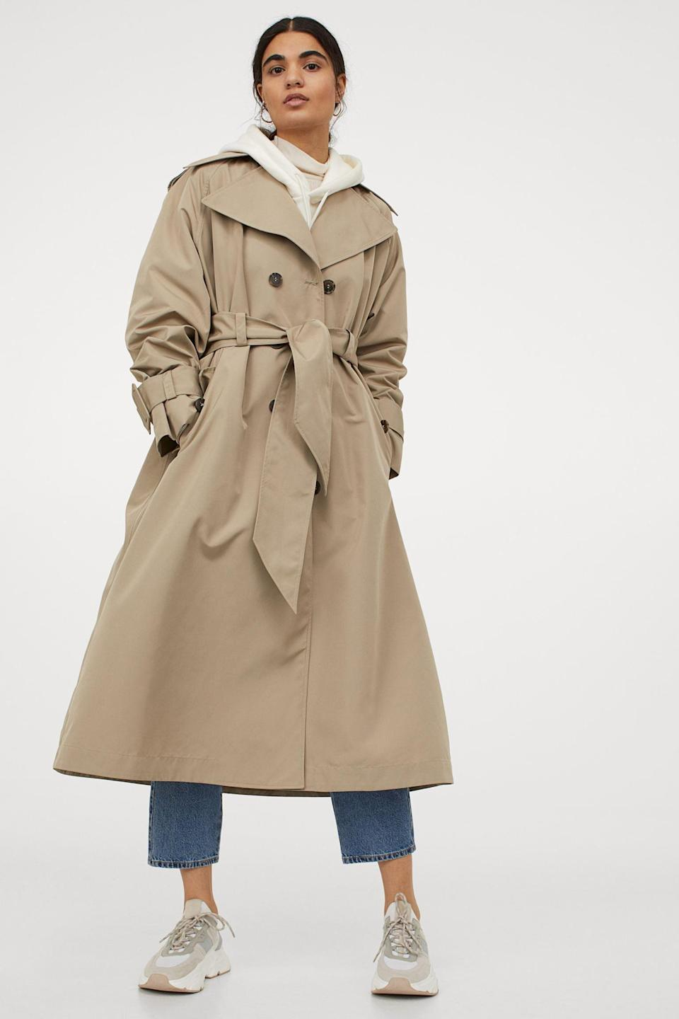 <p>Everyone needs an <span>H&amp;M Oversized Trench Coat</span> ($119) in their closet. Most versatile coat one can ever own.</p>