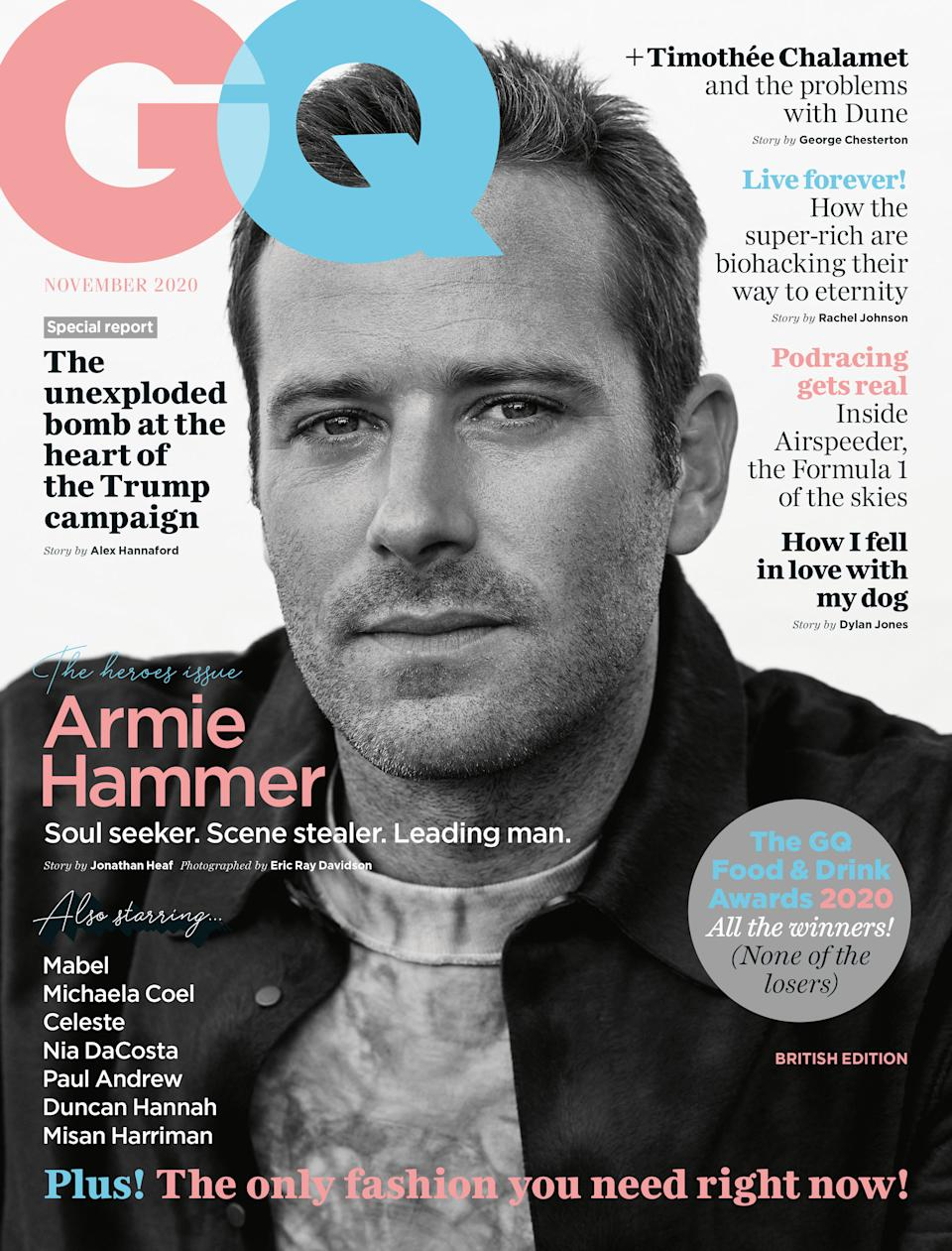 The November issue of GQ (Eric Ray Davidson).